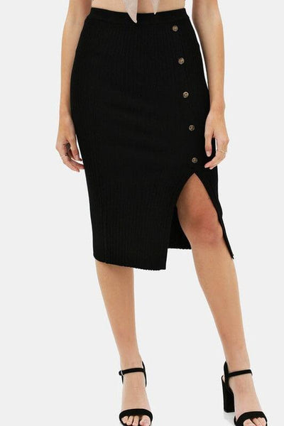 All I Want Black Knitted Skirt - UntamedFaithBoutique