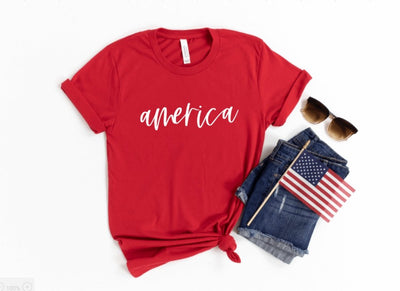 America Red T-Shirt - UntamedFaithBoutique