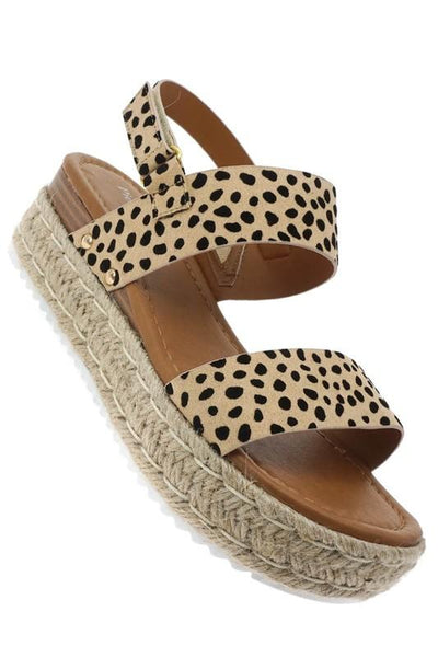 Cheetah Strap Wedges - UntamedFaithBoutique