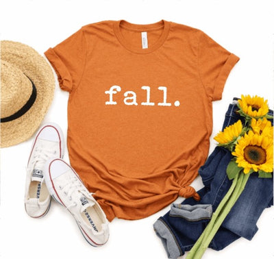 Fall Typewriter Autumn Graphic Tee - UntamedFaithBoutique