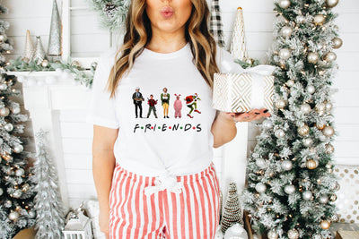 Friends Griswold Christmas White Graphic Tee - UntamedFaithBoutique
