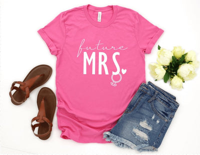 Future Mrs. Hot Pink Graphic Tee - UntamedFaithBoutique