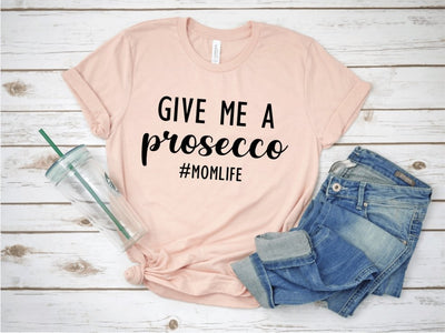 Give Me A Prosecco Light Pink Graphic Tee - UntamedFaithBoutique