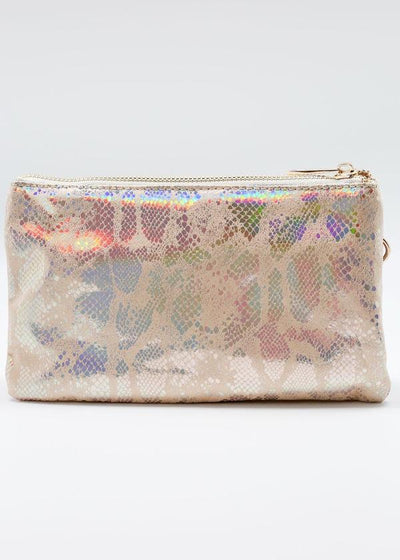 Liz Custom Collection Crossbody Bag Snake Beige Hologram - UntamedFaithBoutique