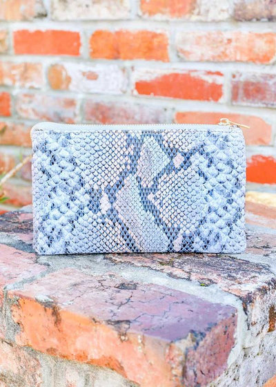 Liz Custom Collection Crossbody Bag Snake Pastel Blue - UntamedFaithBoutique