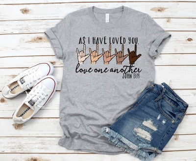 Love One Another Grey Graphic Tee - UntamedFaithBoutique