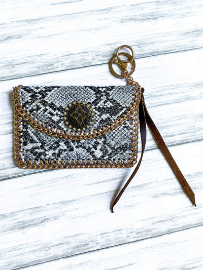 LV Black Snake Skin Coin Purse - UntamedFaithBoutique