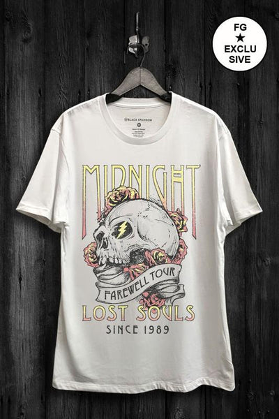 Midnight Lost Souls White Graphic Tee- PREORDER - UntamedFaithBoutique