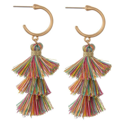 Multi Color Tassel Earrings - UntamedFaithBoutique