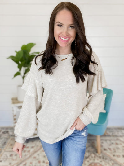 Only Today Beige Sweater - UntamedFaithBoutique
