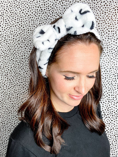 So Relaxed Black Animal Print Spa Headband - UntamedFaithBoutique