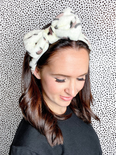 So Relaxed Brown Animal Print Spa Headband - UntamedFaithBoutique