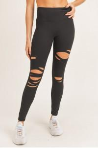 Totally In Love Ripped Leggings - UntamedFaithBoutique