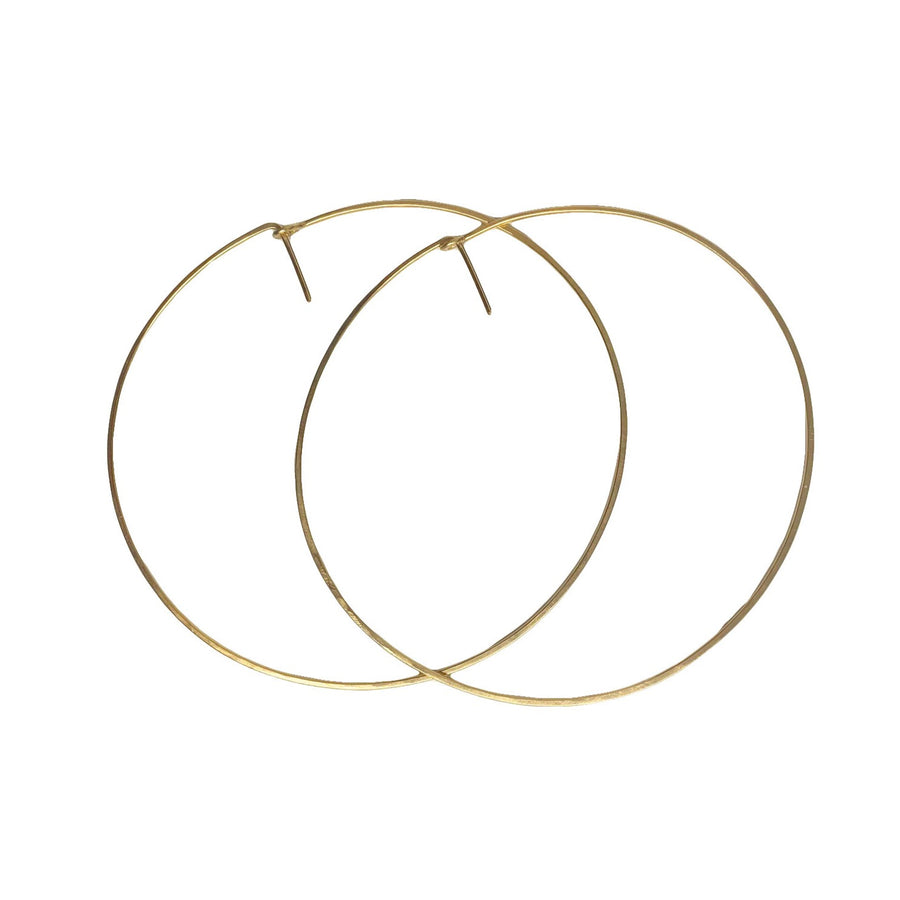 14kt Gold Fill Deco Hoops