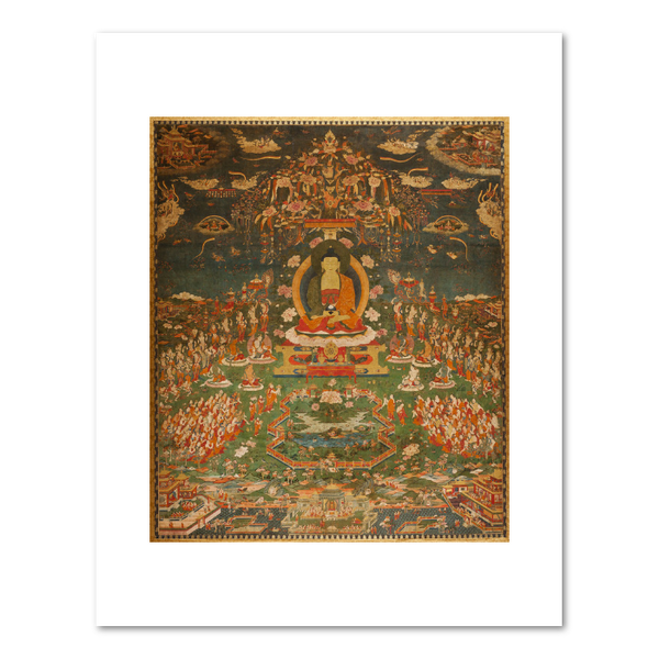 """Amitabha in Sukhavati Paradise"" print by Unknown"