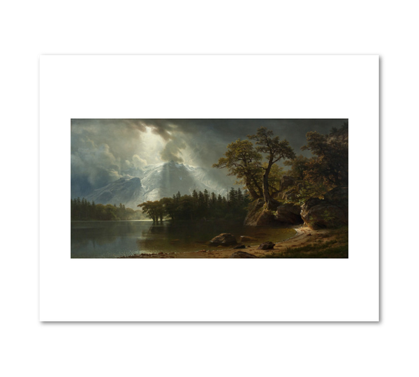 """Passing Storm over the Sierra Nevadas"" print by Albert Bierstadt"