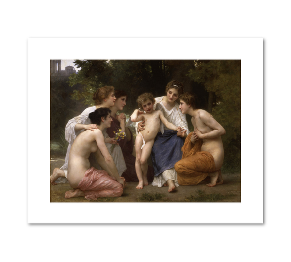 """Admiration"" by William Adolphe Bouguereau"