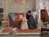 """Mrs. Chase and Child (I'm going to see Grandma)"" by William Merritt Chase"