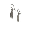 Micha Gonzalez Sterling Silver Pebble and Hand Earrings