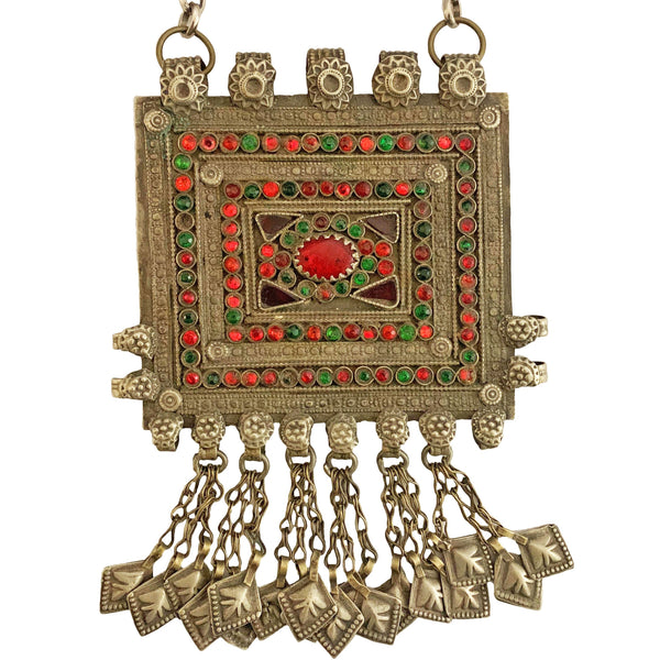 Square Turkmen Jeweled Necklace