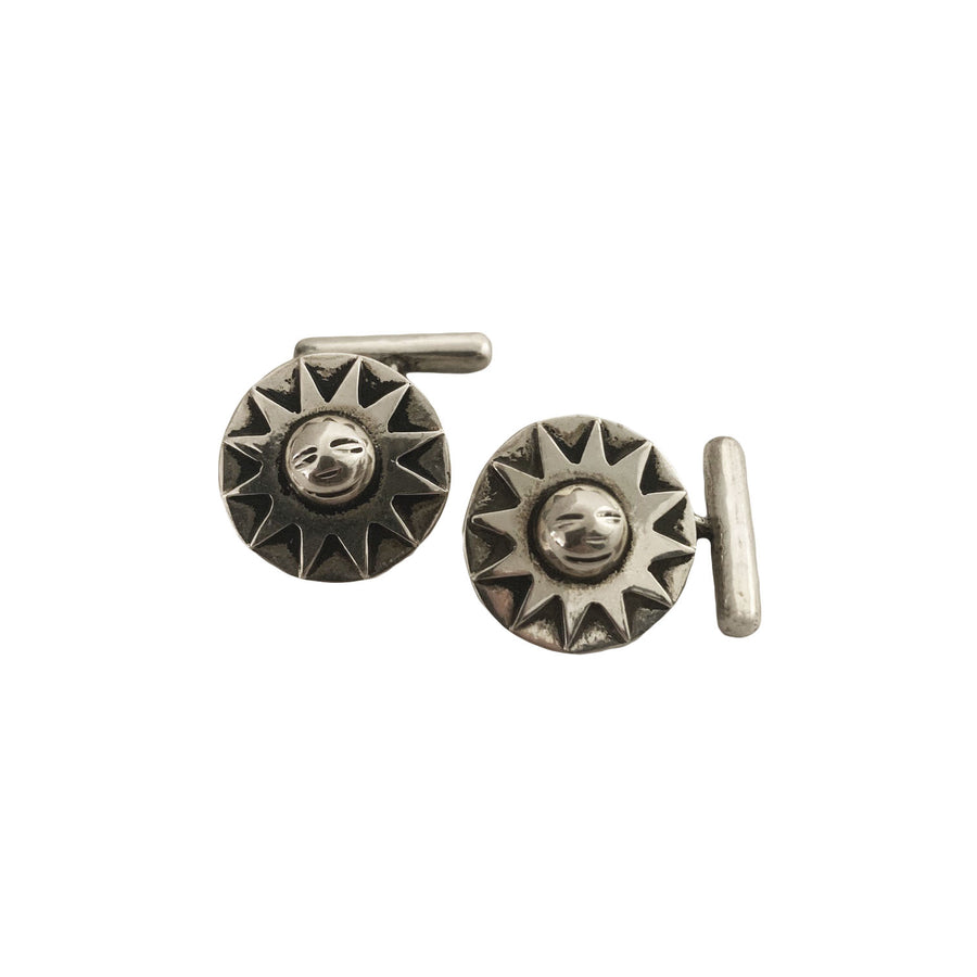 Spratling Sterling Silver Sun Cufflinks