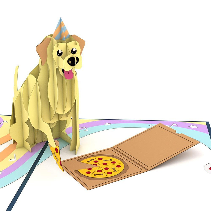 Party Dog Pop-Up 3D Greeting Card