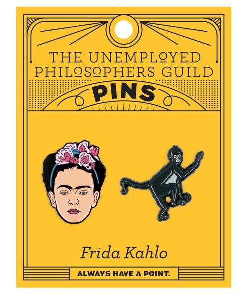 Frida Kahlo and Monkey Enamel Pin Set