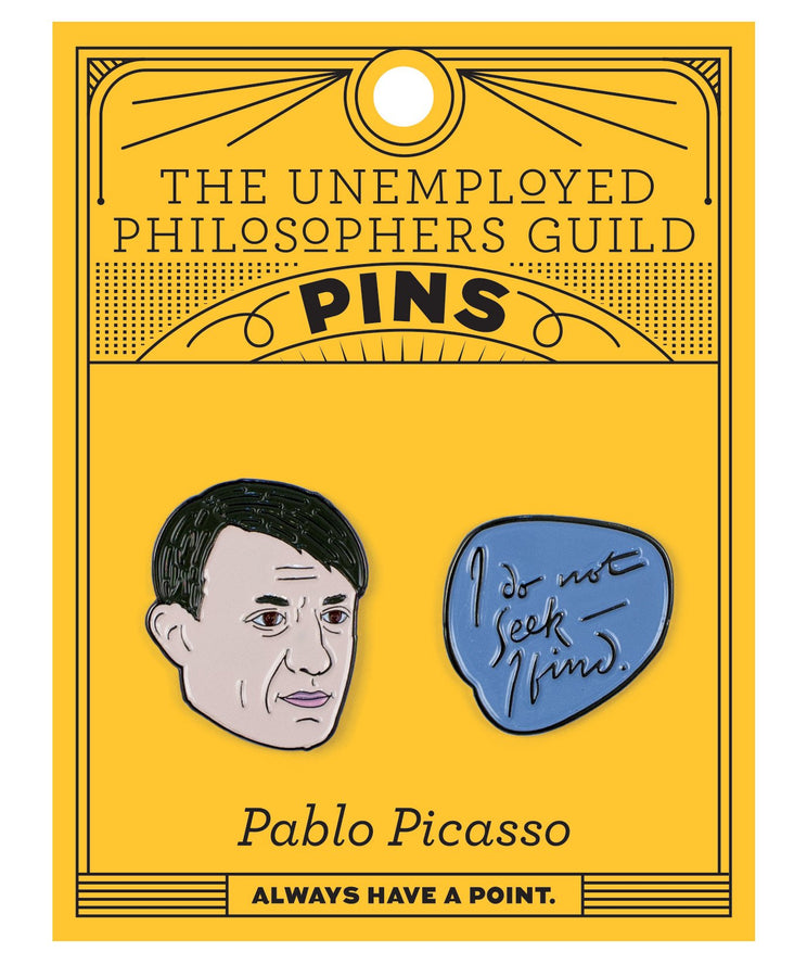 Picasso and Quote Enamel Pin Set