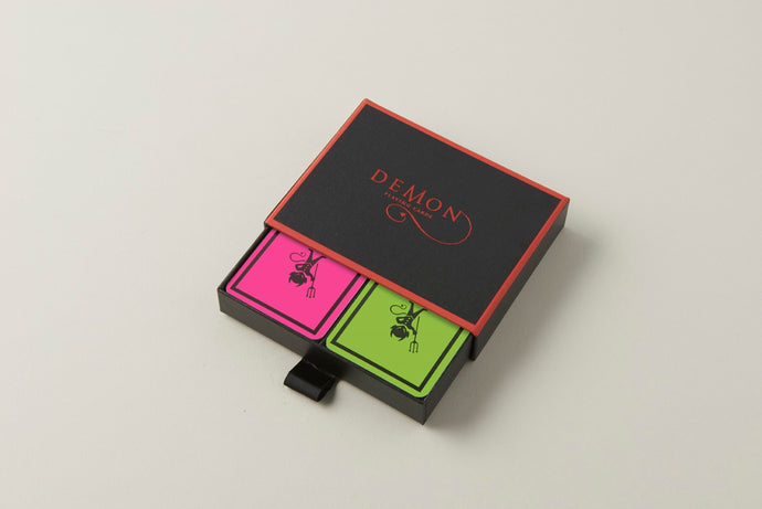 Pink/Lime Demon Playing Cards (Twin Pack)