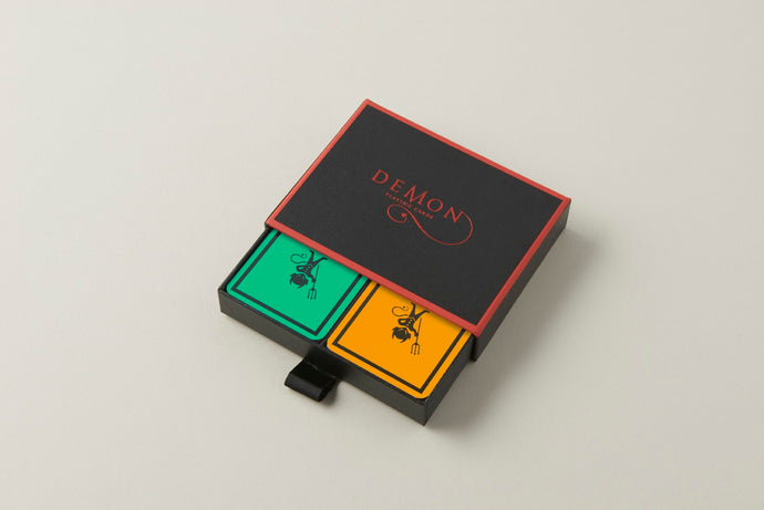 Turquoise/Tangerine Demon Playing Cards (Twin Pack)