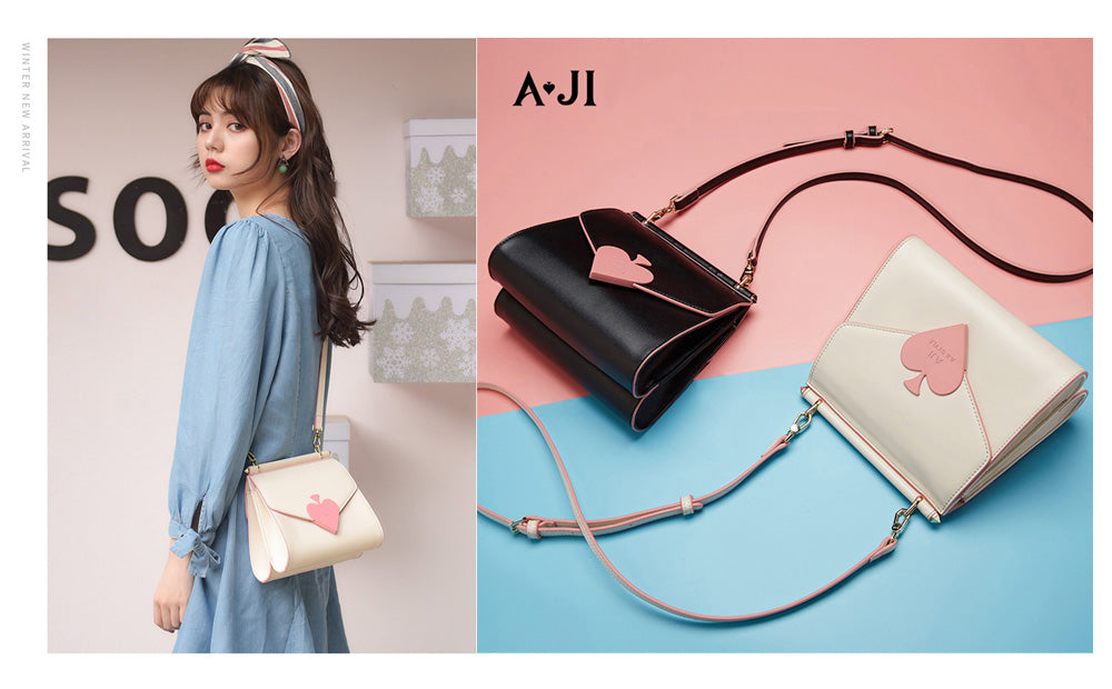 AJI Diagonal hanging bag Women's small shoulder bag Shoulder bag bag bag Cute commuting school attending school bag Mini bag