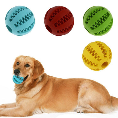 Natural Rubber Ball Toy - Clean Teeth