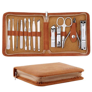 Professional Manicure Set For Men - 13pcs