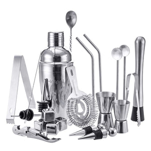 Cocktail Shaker Mixer Stainless Steel Bar Set