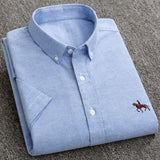 Vintage Oxford Polo Short Sleeved Casual Dress Shirt