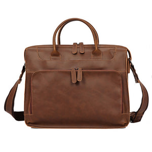 Vintage Men's Vegan Leather Shoulder Bag