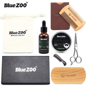 Blue ZOO Professional Beard Grooming Combo - 8pcs/set