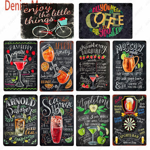 Vintage Metal Bar Chalkboards