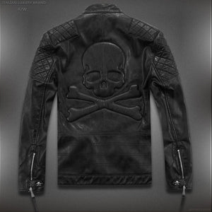 Skull & Cross Bones Motorcycle Jacket