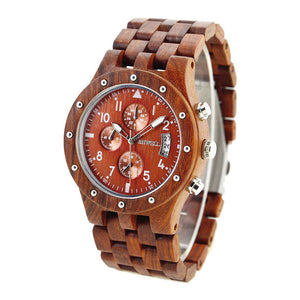 Vintage Luxury Wooden Sports Watch