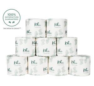 Khi luxury bath tissue 9 paper wrapped rolls refill pack