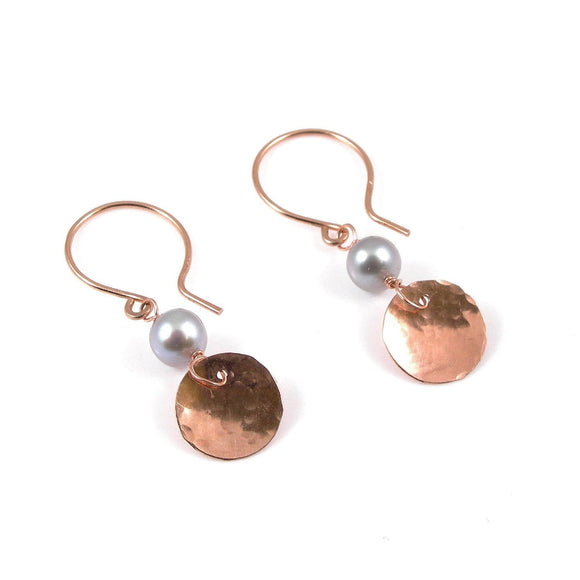 9ct Gold Disc Earrings - karen-morrison-jewellery