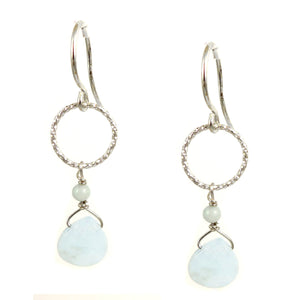 Aquamarine  Earrings - karen-morrison-jewellery