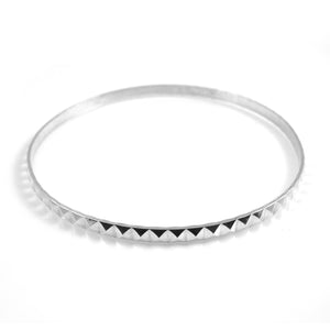 Sterling Silver Pyramid Bangle - karen-morrison-jewellery