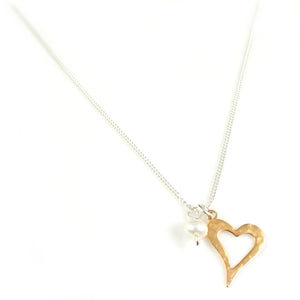 Gold Heart Necklace - karen-morrison-jewellery