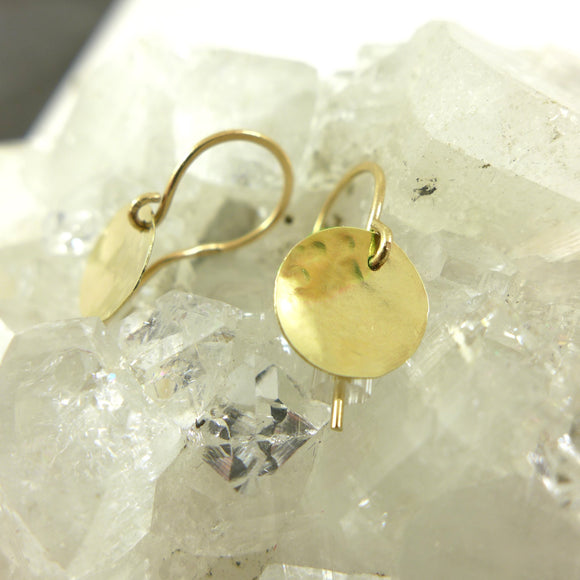 9ct yellow Gold Disc Earrings