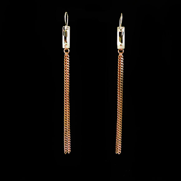 Swarovski Crystal Long Earrings - karen-morrison-jewellery