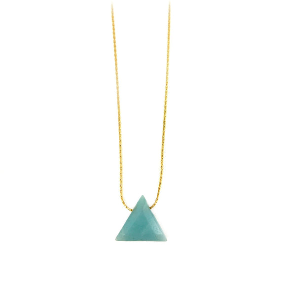 Amazonite Triangle Necklace - karen-morrison-jewellery