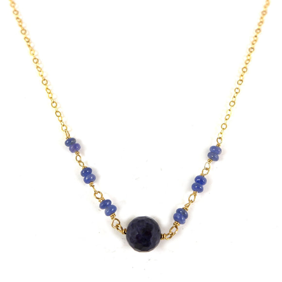 Sapphire gold filled Necklace - karen-morrison-jewellery