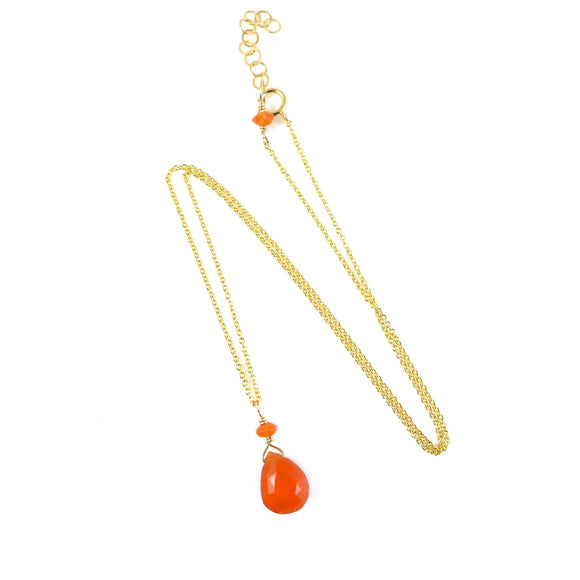 Carnelian Necklace - karen-morrison-jewellery